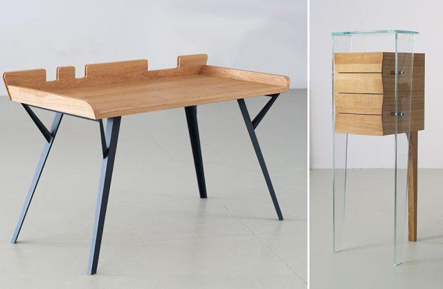 nowoczesny projekt małego biura i szafki od Bozzetti