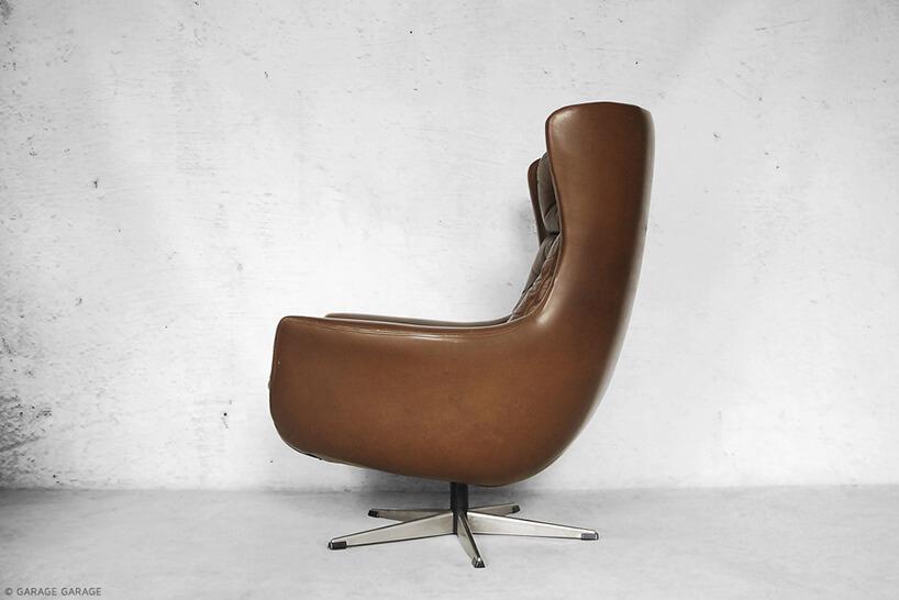 brązowy fotel vintage