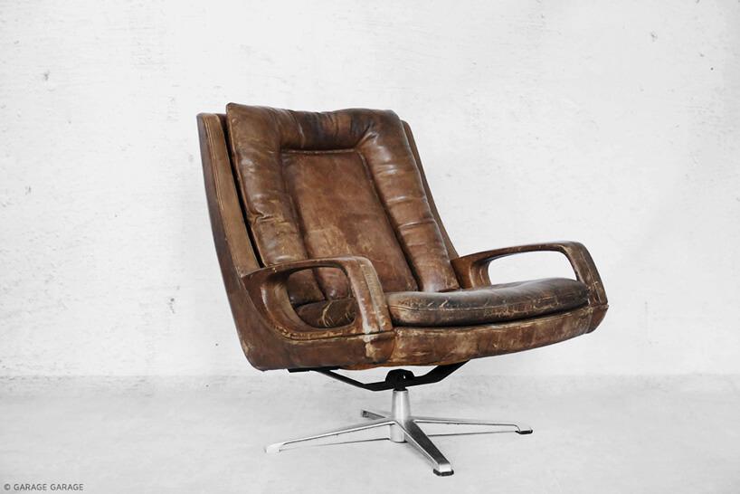 obrotowy fotel vintage