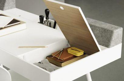 biurko z podnoszonymi blatami