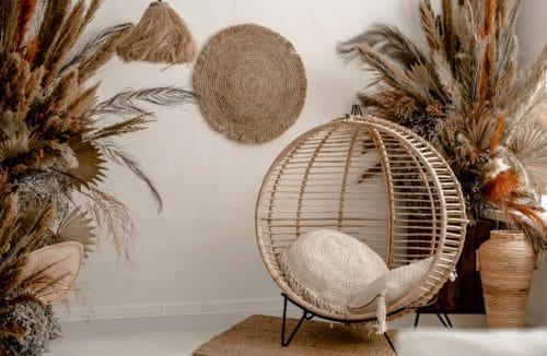 fotel z wikliny trawa pampasowa