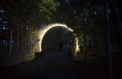 mglisty portal wieczorem