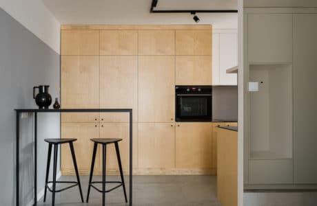 mieszkanie na ursynowie w naturalnych barwach od 3XEL Architekci