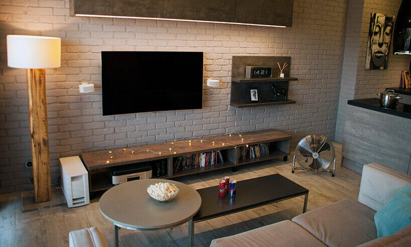 Salon wstylu loftowym
