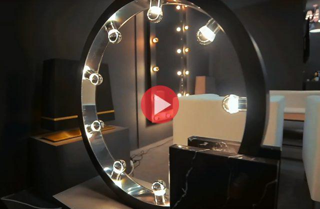 elegancka czarna lampa projektu Macieja Zienia dla MiLAGRO podczas Warsaw Home 2019
