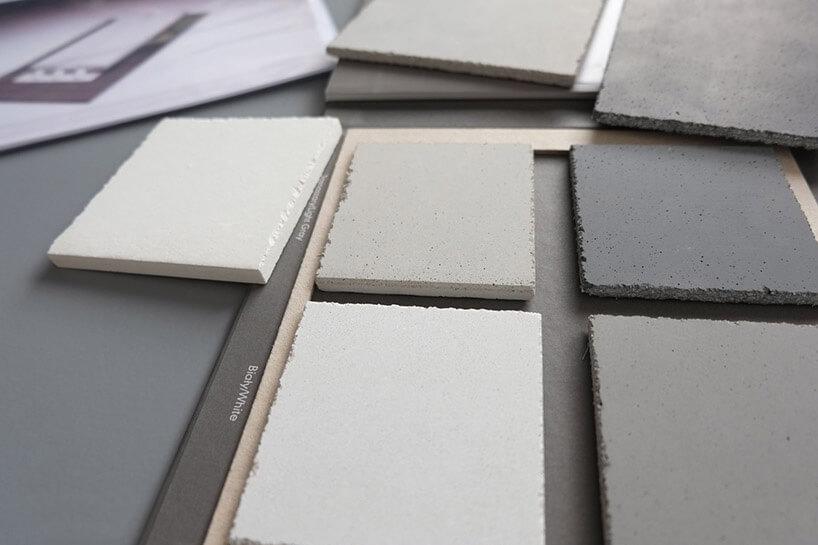 różnokolorowe próbki materiałów