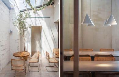 Minimalizm na stole i we wnętrzu: wegańska restauracja Opa w Tel Awivie