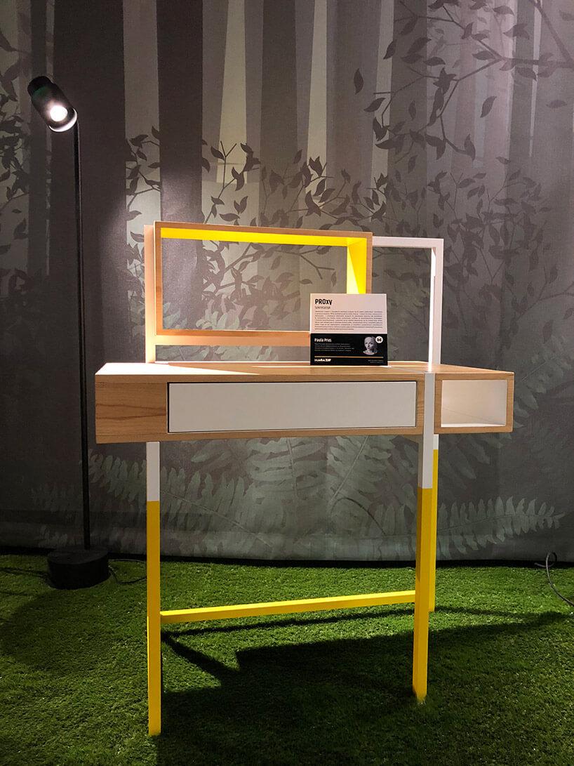 wyjątkowe transformujące drewniane biurko