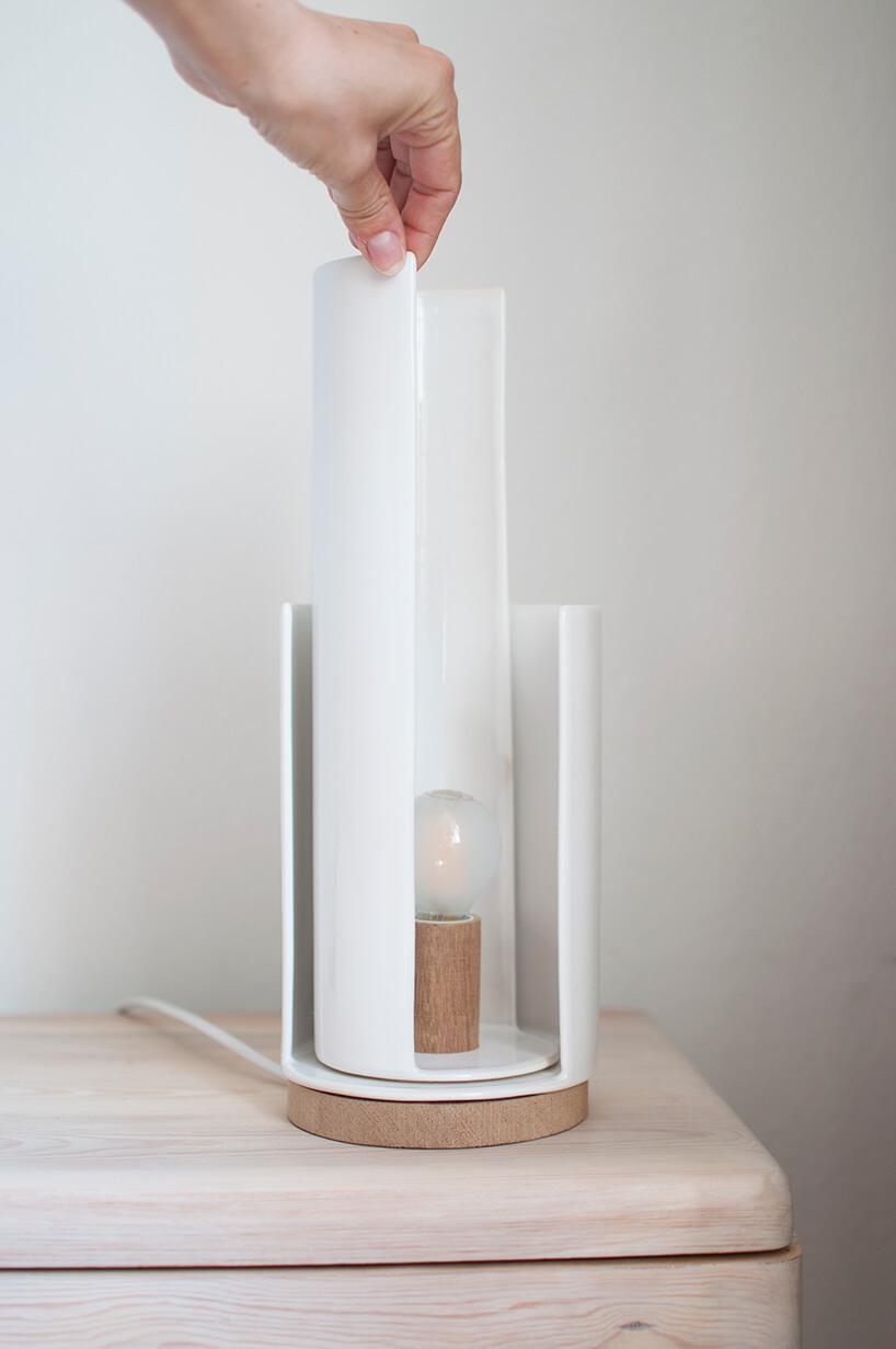 wyjątkowa lampka Minio zobrotowym wysokim kloszem projektu Ewy Hille wramach konkursu Młodzi na start