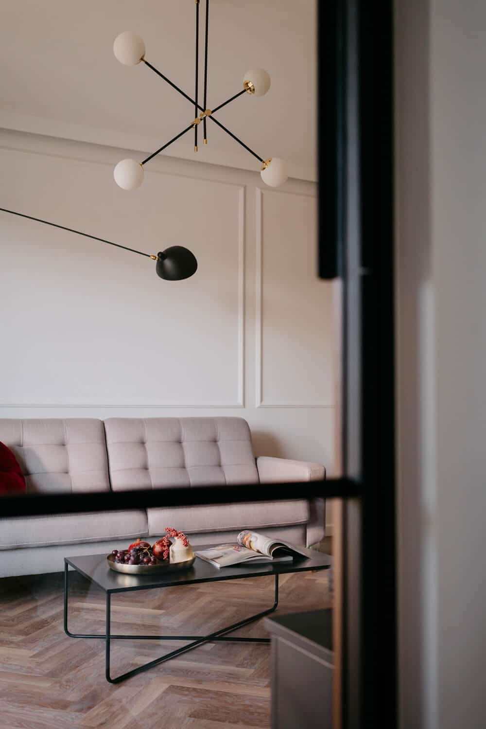 Modern classic wmieszkaniu nad Odrą