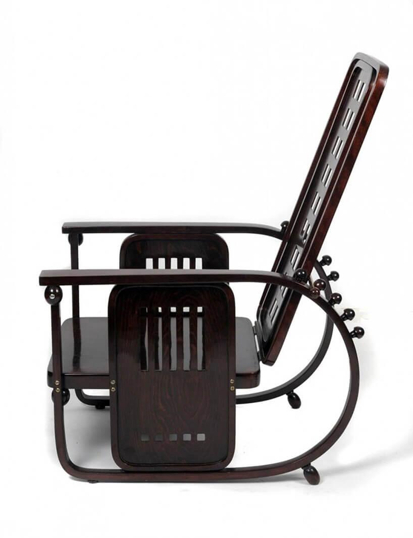 brązowe modernistyczne krzesło