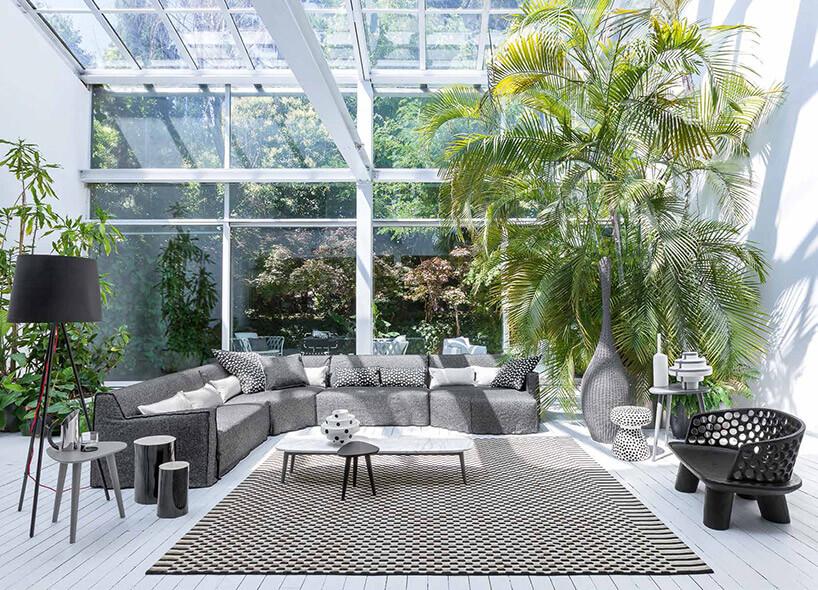 przeszklone wnętrze na bujny ogród