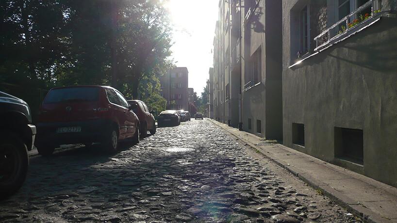 brukowana ulica