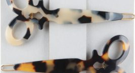 nietypowe spinki do włosów wkształcie nożyczek icętki