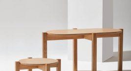 duży imały drewniany stolik kawowoy