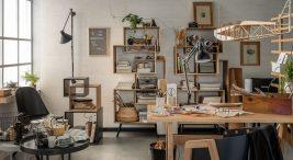 biurko iszafki drewniane wgabinecie zkolekcji mebli Ribon