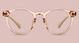 okulary zgrubymi złotymi oprawkami