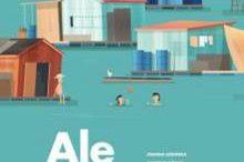 zielona okładka książki Ale miasta! zrysunkami domów
