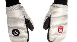 zimowe czarno-białe rękawiczki zimowe