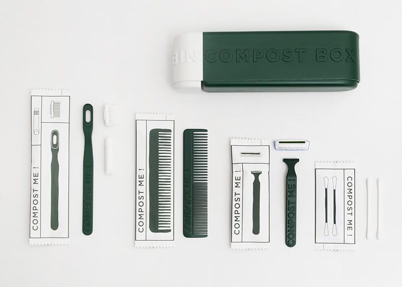 zielone pudełko zprzyrządami dla fryzjera