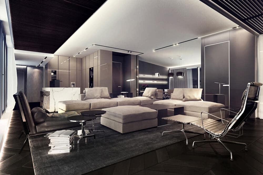 Luksusowy apartament wWarszawie, proj. Hilight Design