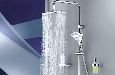 elegancka armatura łazienkowa pod prysznic