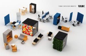 wirtualizacja stanowiska z elementami marki vank