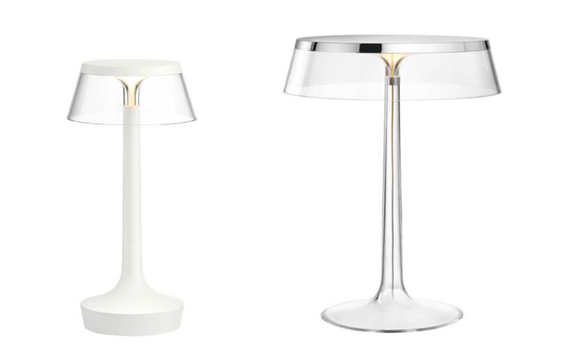 eleganckie lampki nocne Bon Jour zprzeźroczystego plastiku