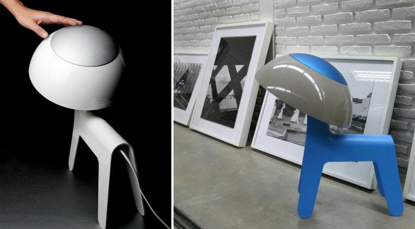 nowoczesne lampy wkształcie psa