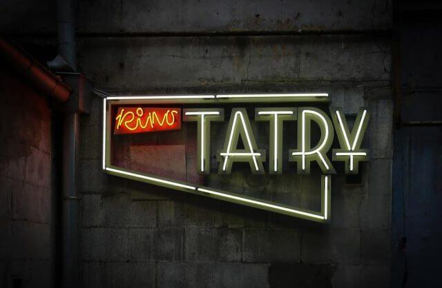 odnowiony neon kina Tatry