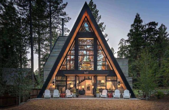trójkątny dom zaprojektowany na nowo