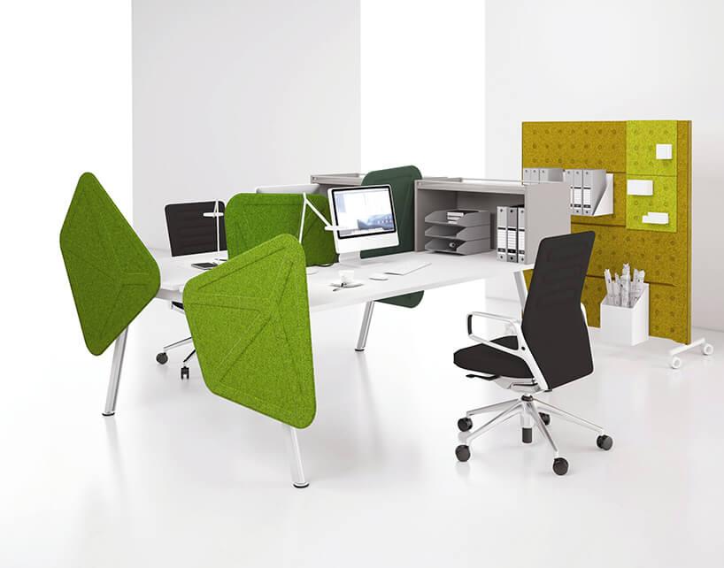 białe podwójne nowoczesne biurko do biura PLUS od Balma
