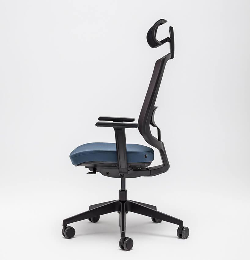 nowoczesne krzesło biurowe Sava od MDD zzagłówkiem