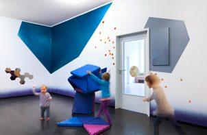 przedszkole niebieskie ściany