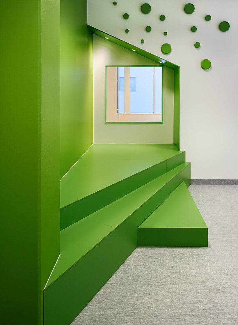 zielone ściany wprzedszkolu