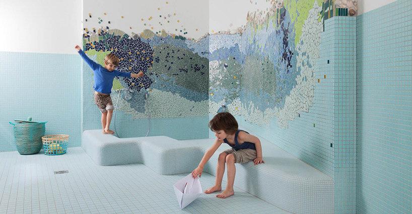 łazienka mozaika dzieci przedszkole