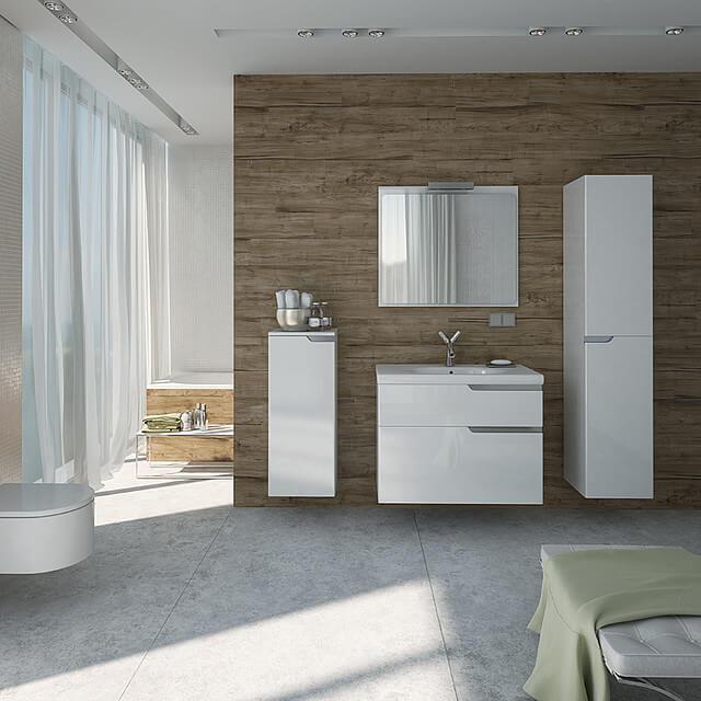 drewniana łazienka