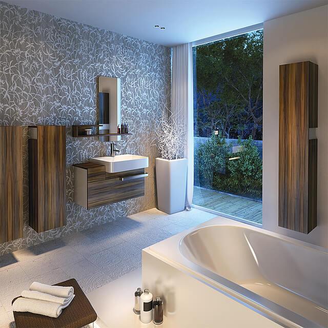 podświetlona łazienka