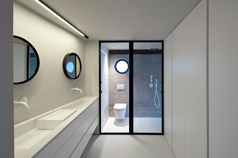 minimalizm wnowoczesnej łazience