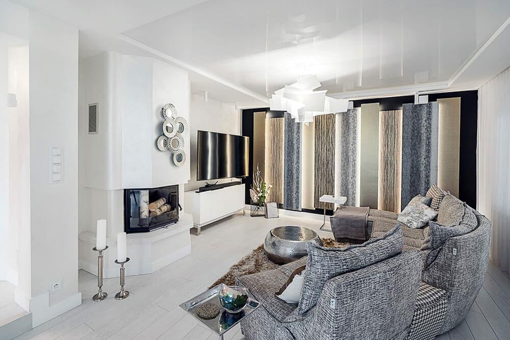 Nowocześnie iwtonach glamour: dom wDolinie Sandomierskiej