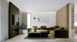 eleganckie nowoczesne wnętrze domu projektu pracowni OSOM Group