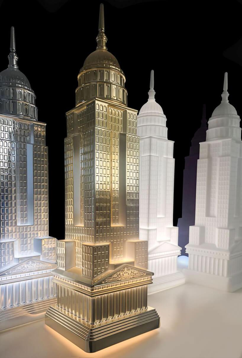 wyjątkowa lampa od QeeBoo wkształcie budynku Empire State Bulding