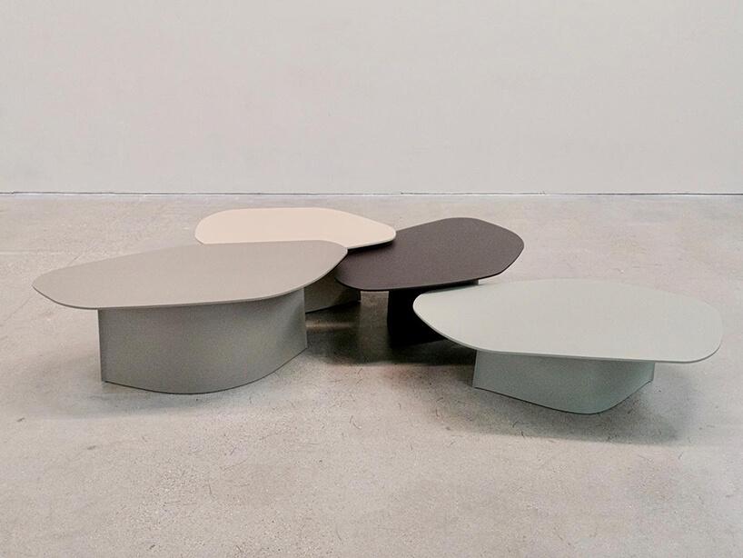 rożnej wielkości stoły Parova od Studio Zieta