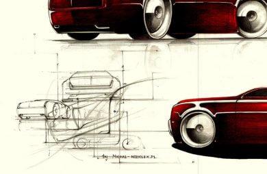 projekt współczesnego samochodu Warszawa