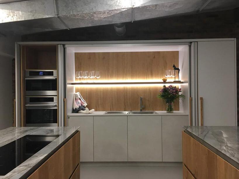 drewniano-biała kuchnia