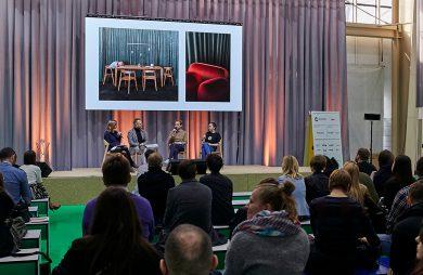 widzowie podczas jednego z paneli na MEBLE POLSKA