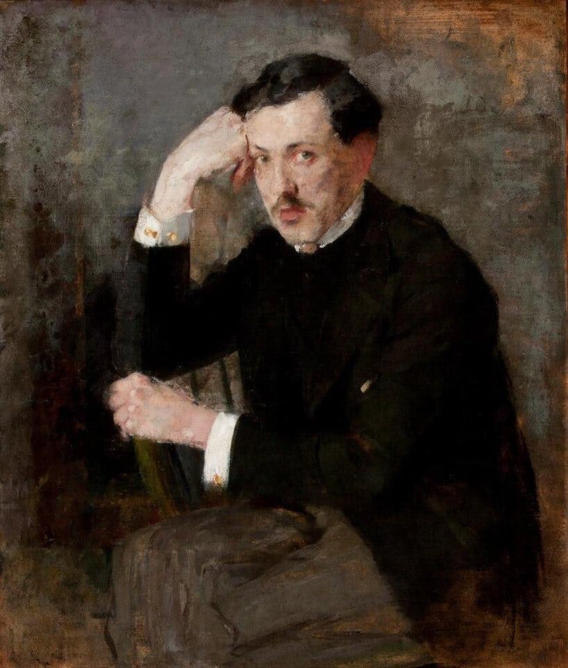Portret Józefa Czajkowskiego wwykonaniu Olgi Boznańskiej
