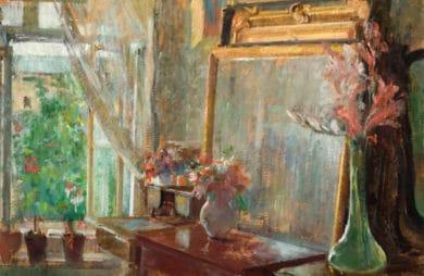 """obraz Olgi Boznańskiej """"Wnętrze"""""""