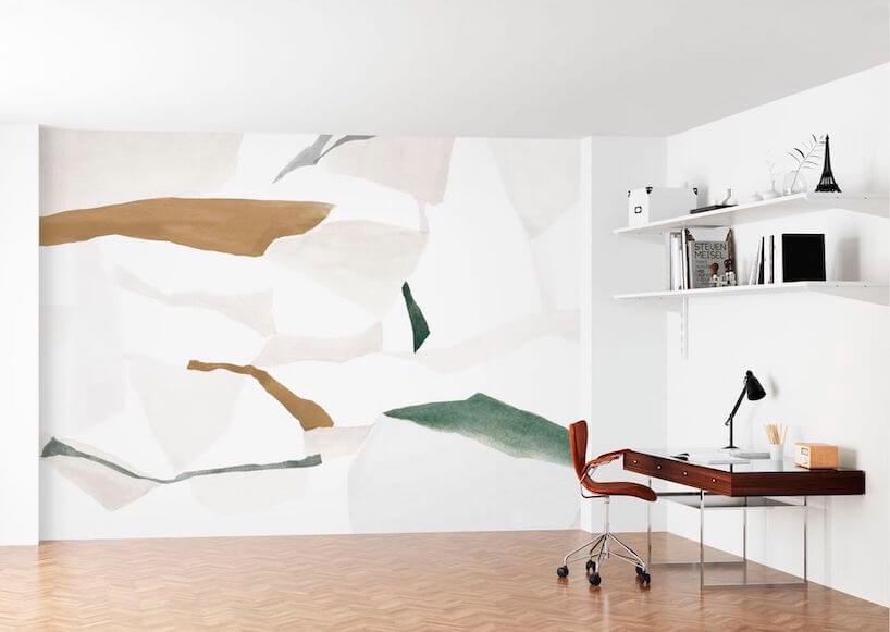 wyjątkowa tapeta wotoczeniu białych ścian