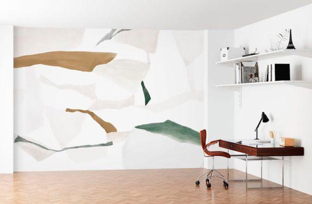 wyjątkowa tapeta w otoczeniu białych ścian